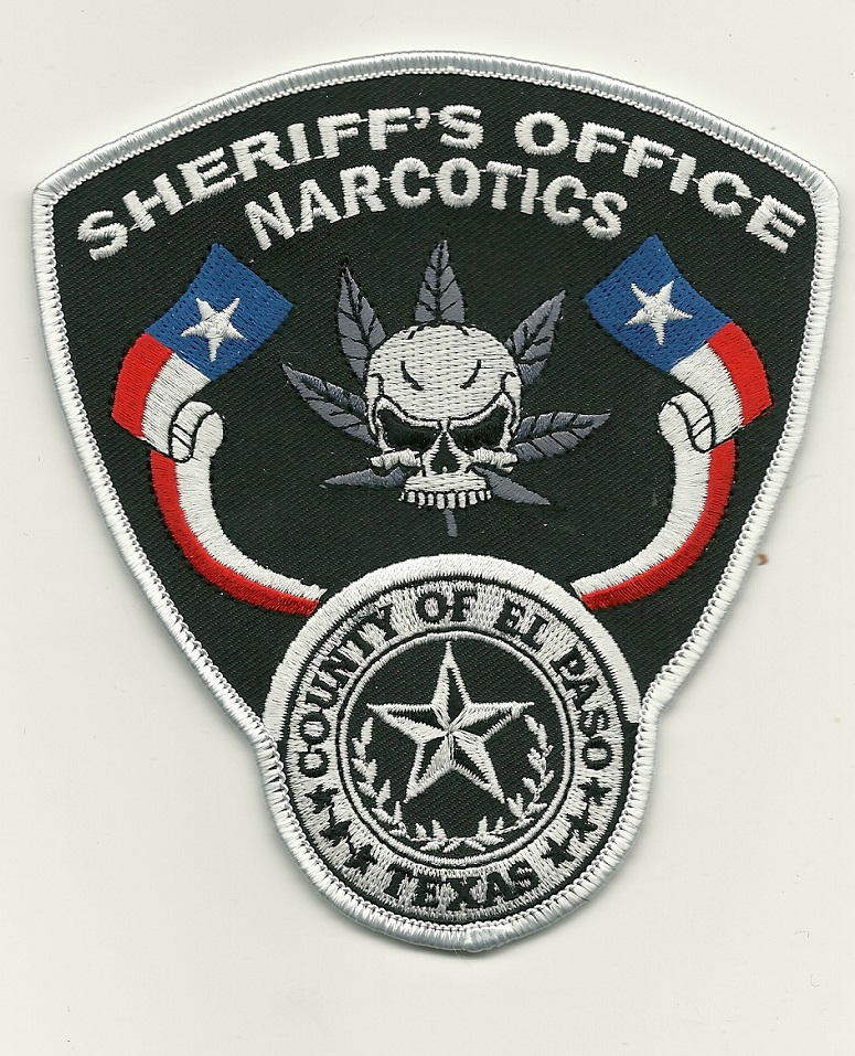 El Paso County Sheriff State Texas TX Narcotics patch NEW