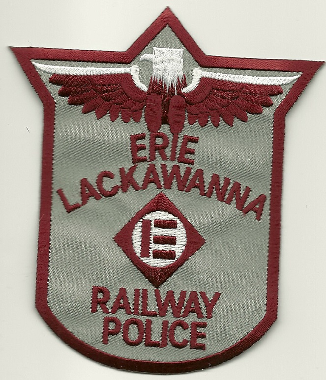 Erie Lackawanna Railroad Railway Police patch PA
