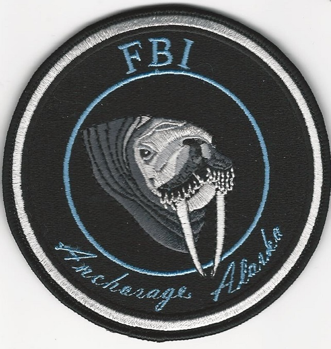 FBI Anchorage Alaska Walrus patch Gman