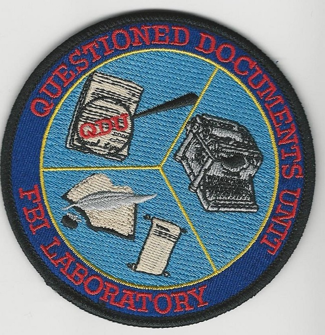 FBI laboratory CSI patch