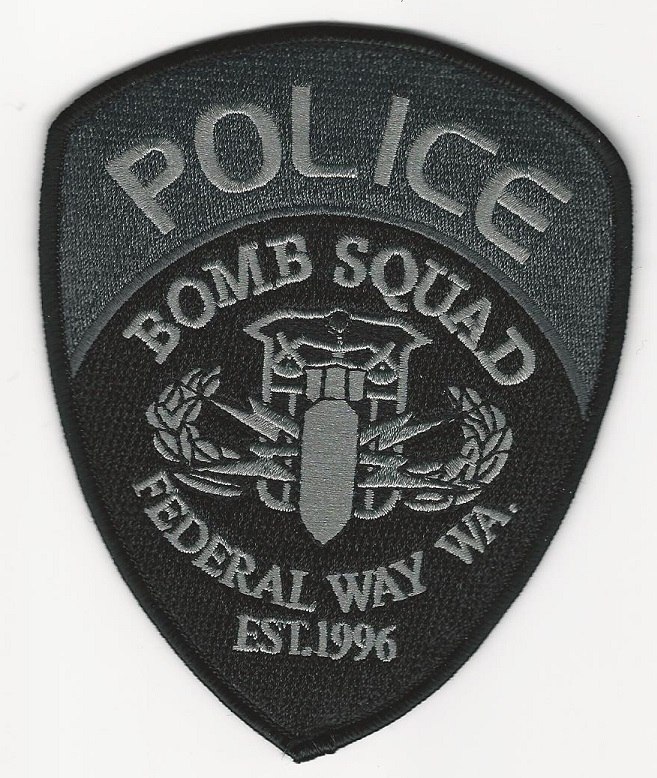 Federal Way Police Bomb Squad EOD patch Washington WA