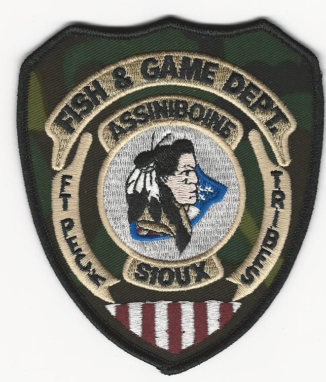 FT Peck Assiniboine Fish & Game Camo patch SD