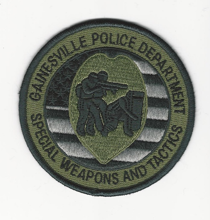 Gainesville Police Florida Round Entry Green SWAT SRT FL patch