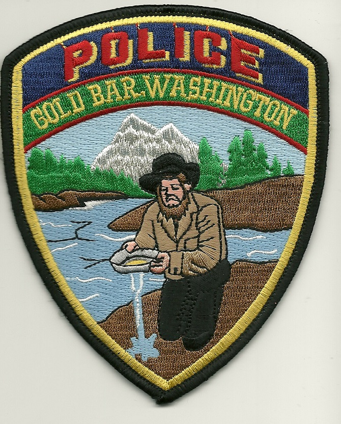 Gold Bar Police State Washington WA Defunct Prospector patch