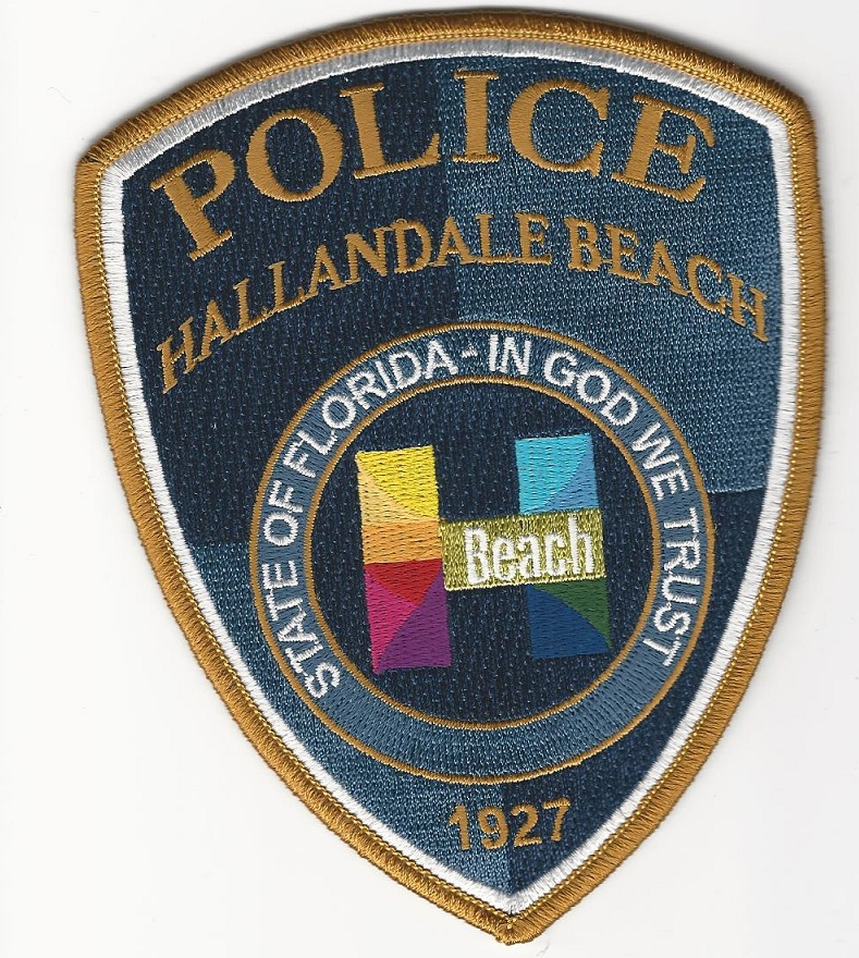 Halandale Beach POlice FL Color patch