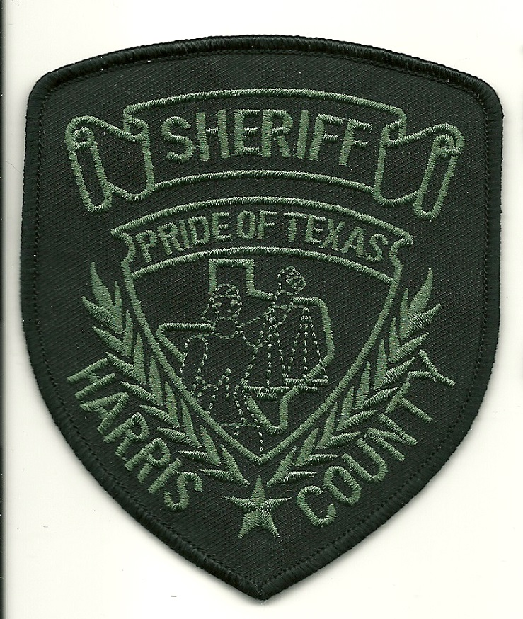 Harris County Sherif SWAT SRT Subdued patch Texas TX