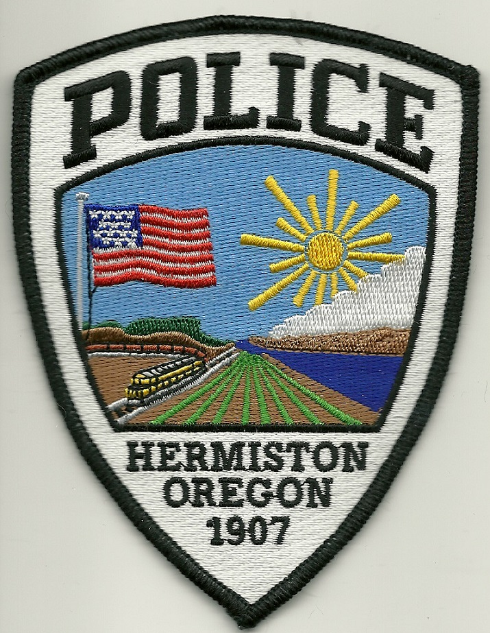 Hermiston Police State Oregon OR Train patch