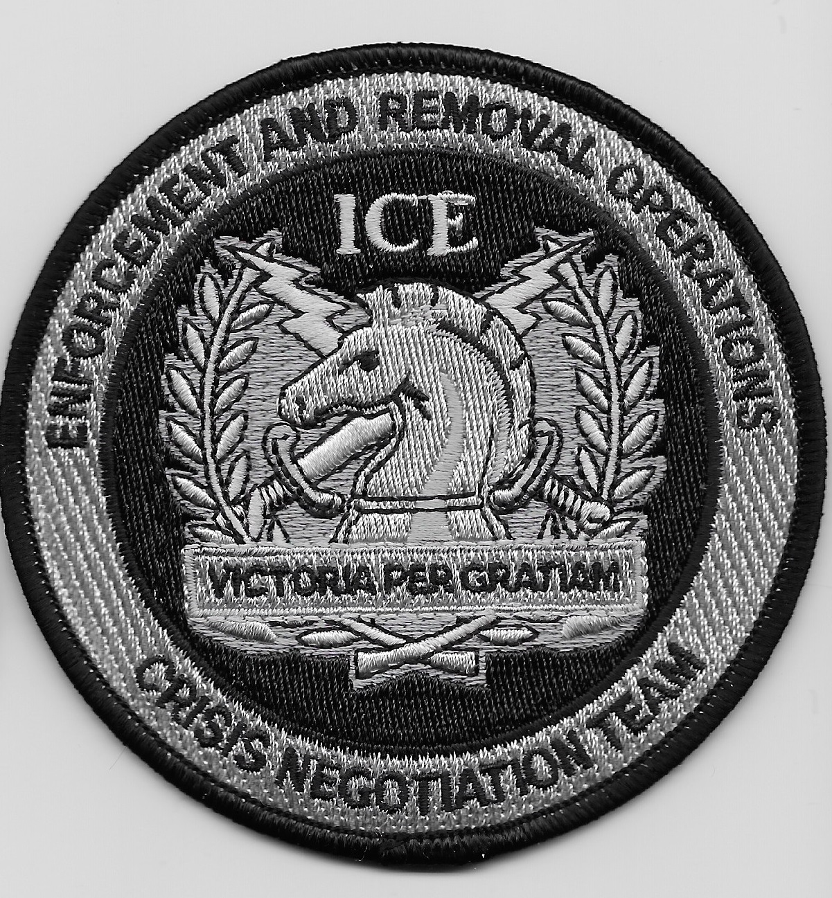 ICE CNT Hostage Negotiator Black & Gray