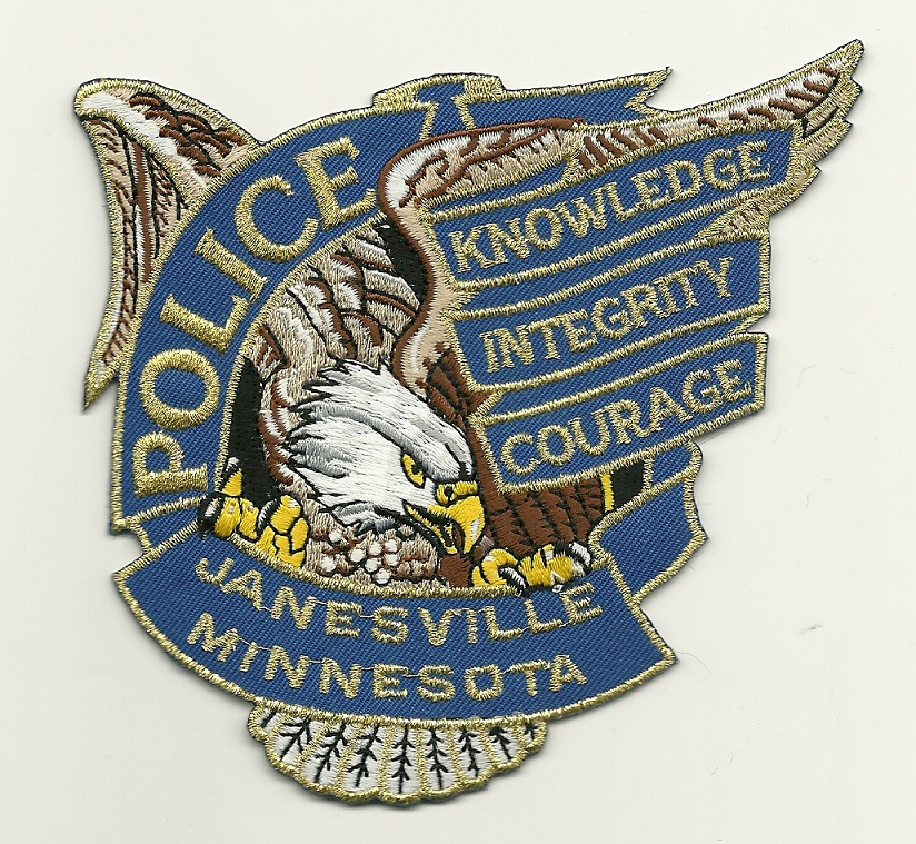 Janesville Police Minnesota MN Eagle patch