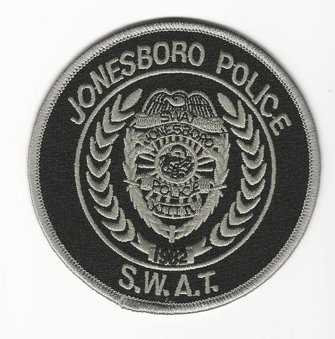 Jonesboro SWAT AR Black patch