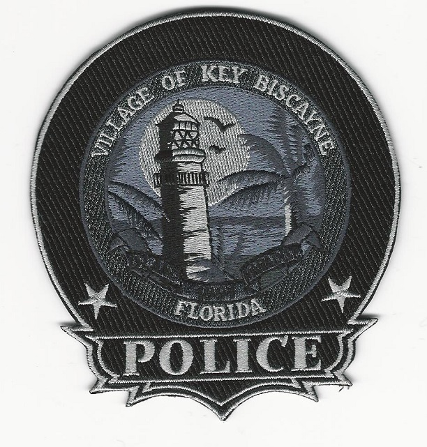 Key Biscayne Police Subdued Lighthouse patch Florida FL