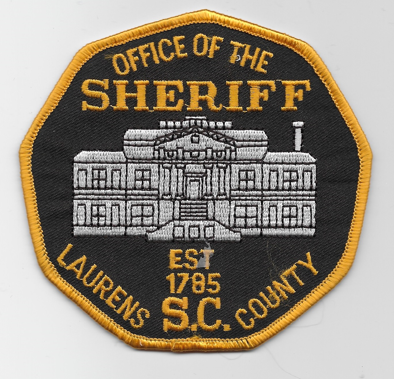 Laurens County Sheriff SC gold