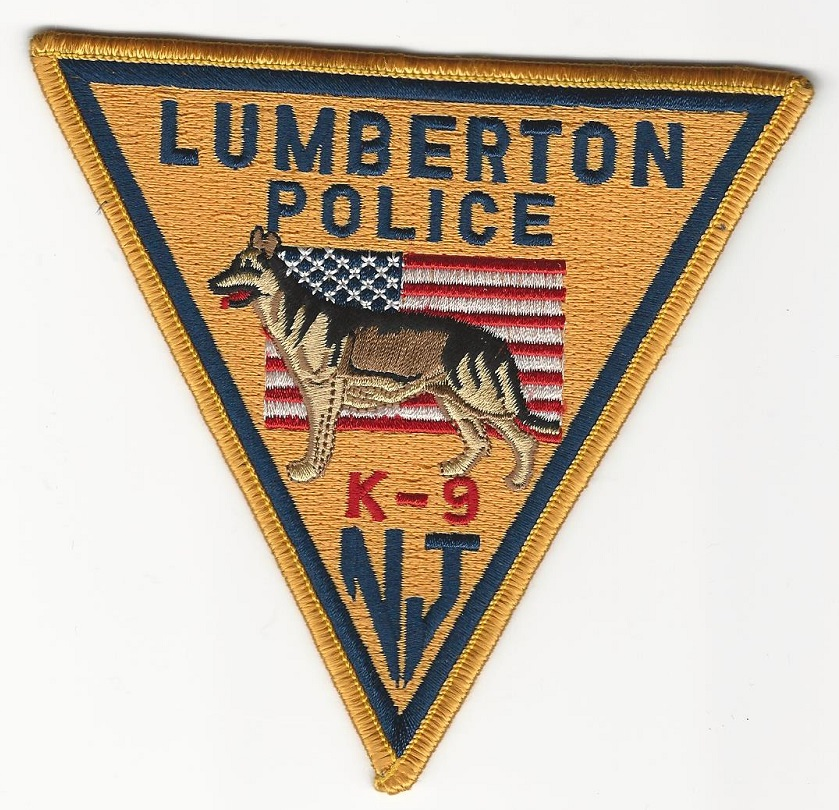 Lumberton POlice k9 k-9 State New Jersey NJ patch
