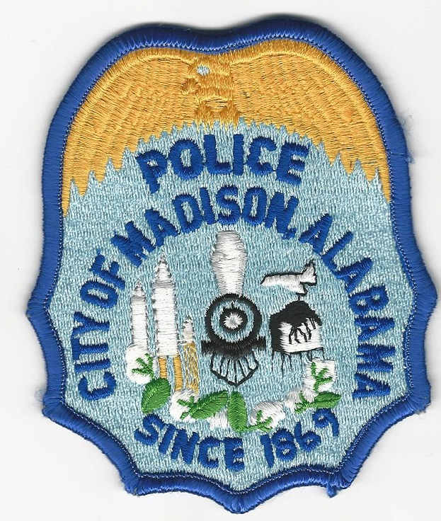Madison Police AL LIGHT Blue Train patch