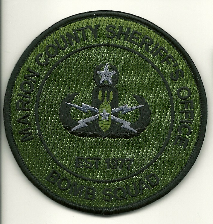 Marion County Sheriff Bomb Squad EOD patch State FLorida FL Subdued