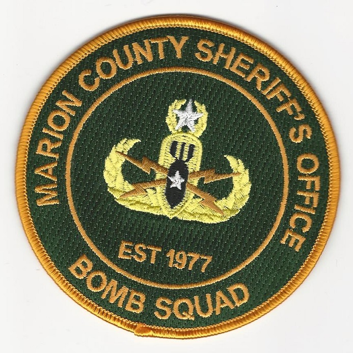 Marion County Sheriff Bomb Squad EOD patch State FLorida FL Full Color