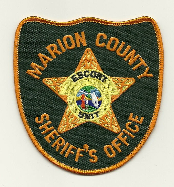 Marion County Sheriff  Motor Escort patch
