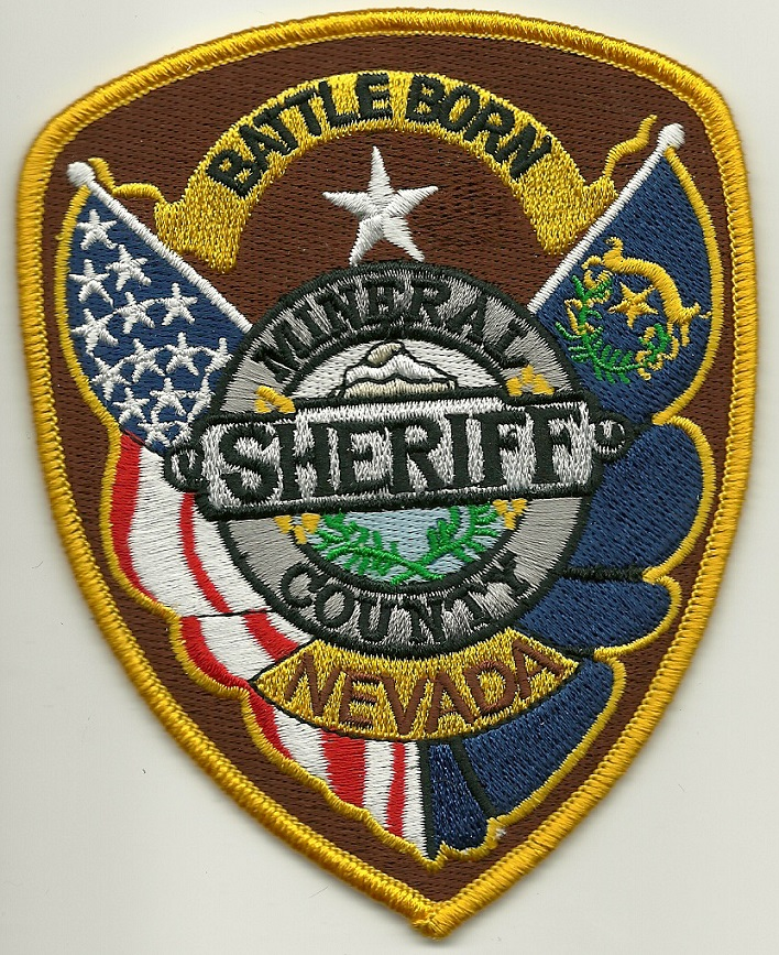 Mineral County Sheriff State Nevada NV patch NEW