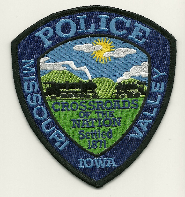 Missouri Valley Police State Iowa IA patch