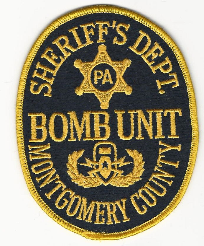 Montogmery County Sheriff Bomb Squad Full Color EOD Pennsylvania PA