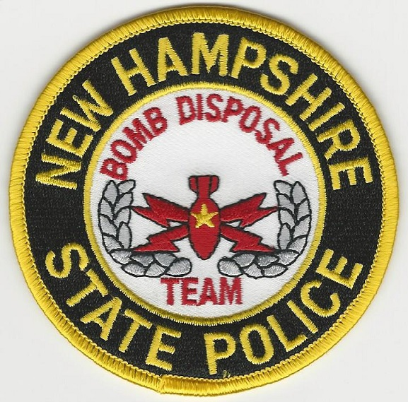 New Hampshire State Police Bomb Squad EOD patch