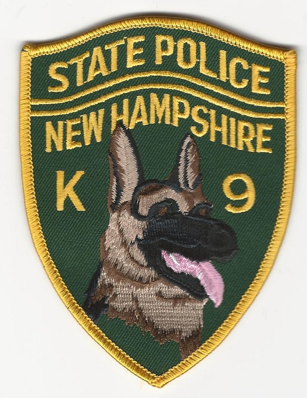 New Hampshire State Police k9 Color