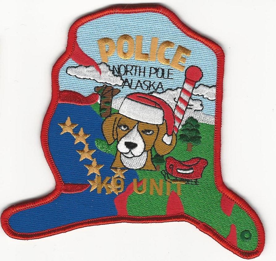 North Pole POlice k9 k-9