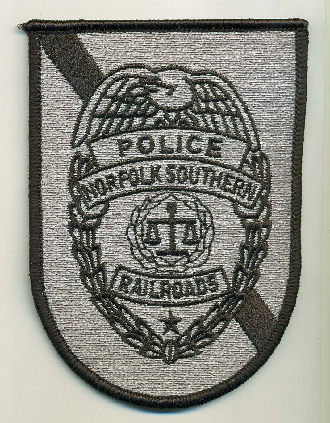 Norfolk Southern Railroad Police Gray patch