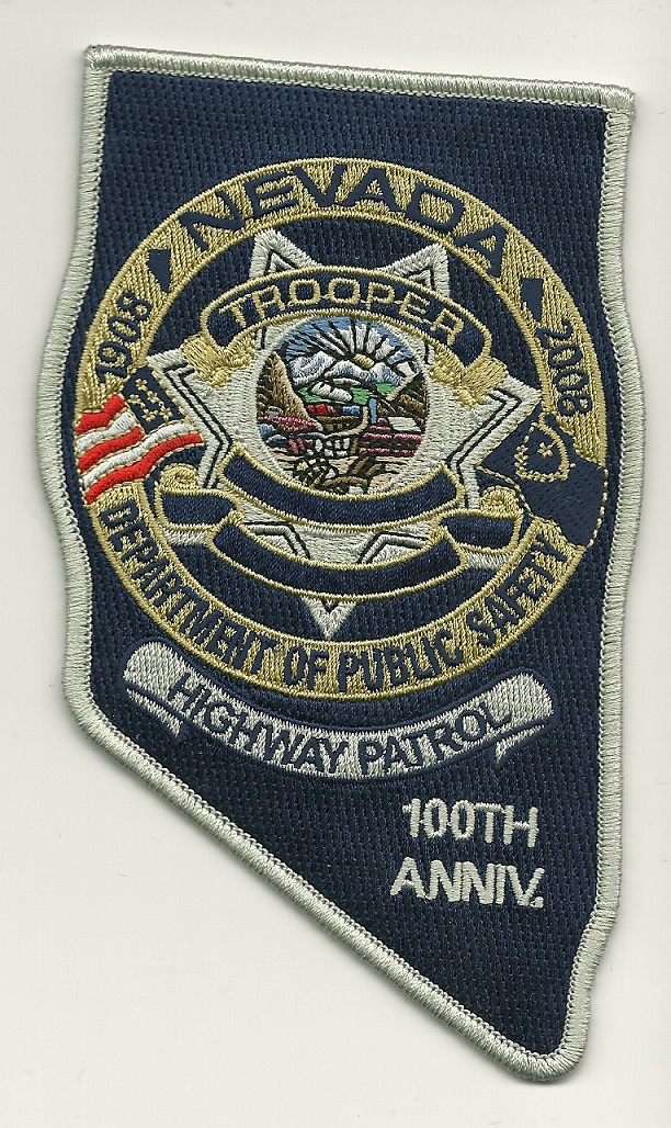Nevada Highway Patrol 100th Anniversary patch