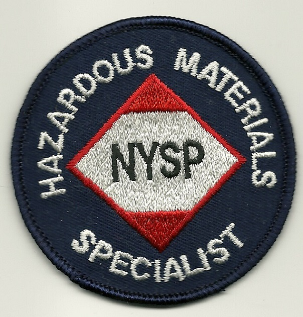 New York State POlice HAZ MAT shoulder patch