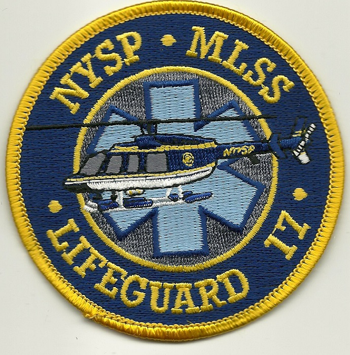 New York State Police MLSS Aviation Lifeguard 17 Airwing patch