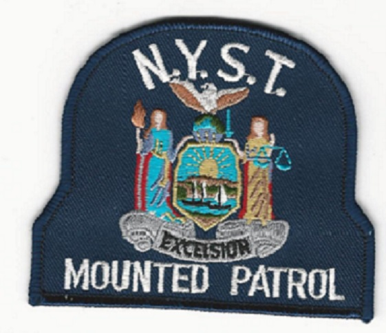 New York State Police Mounted patch (new Version) Mounted Patrol