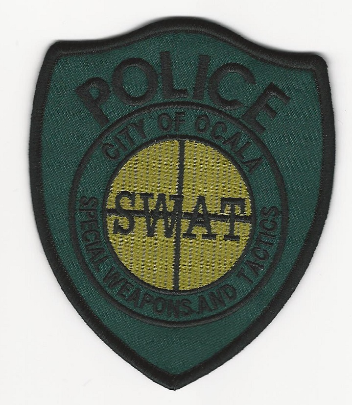 Ocala POlice SWAT SRT Subdued green patch Florida FL