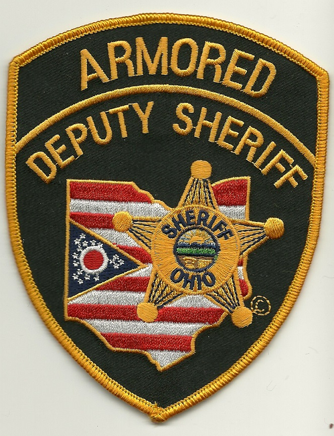 Ohio Sheriff Full Color Armored patch SWAT