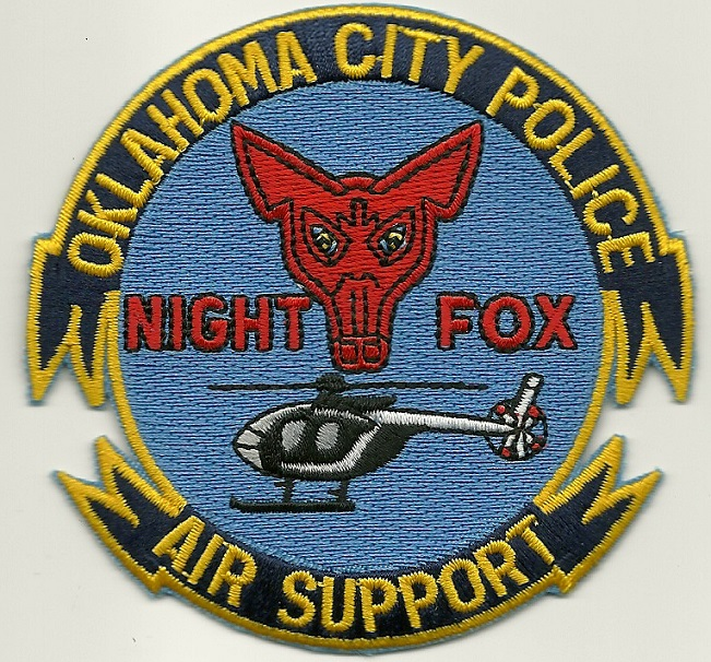 Oklahoma City Police Aviation Night Fox patch