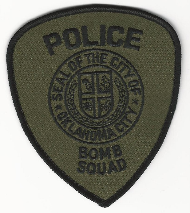Oklahoma City Police Bomb Squad EOD patch Green