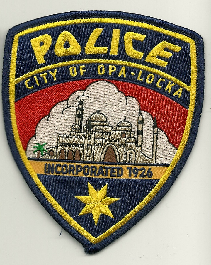 Opa-Locka Police patch Florida FL