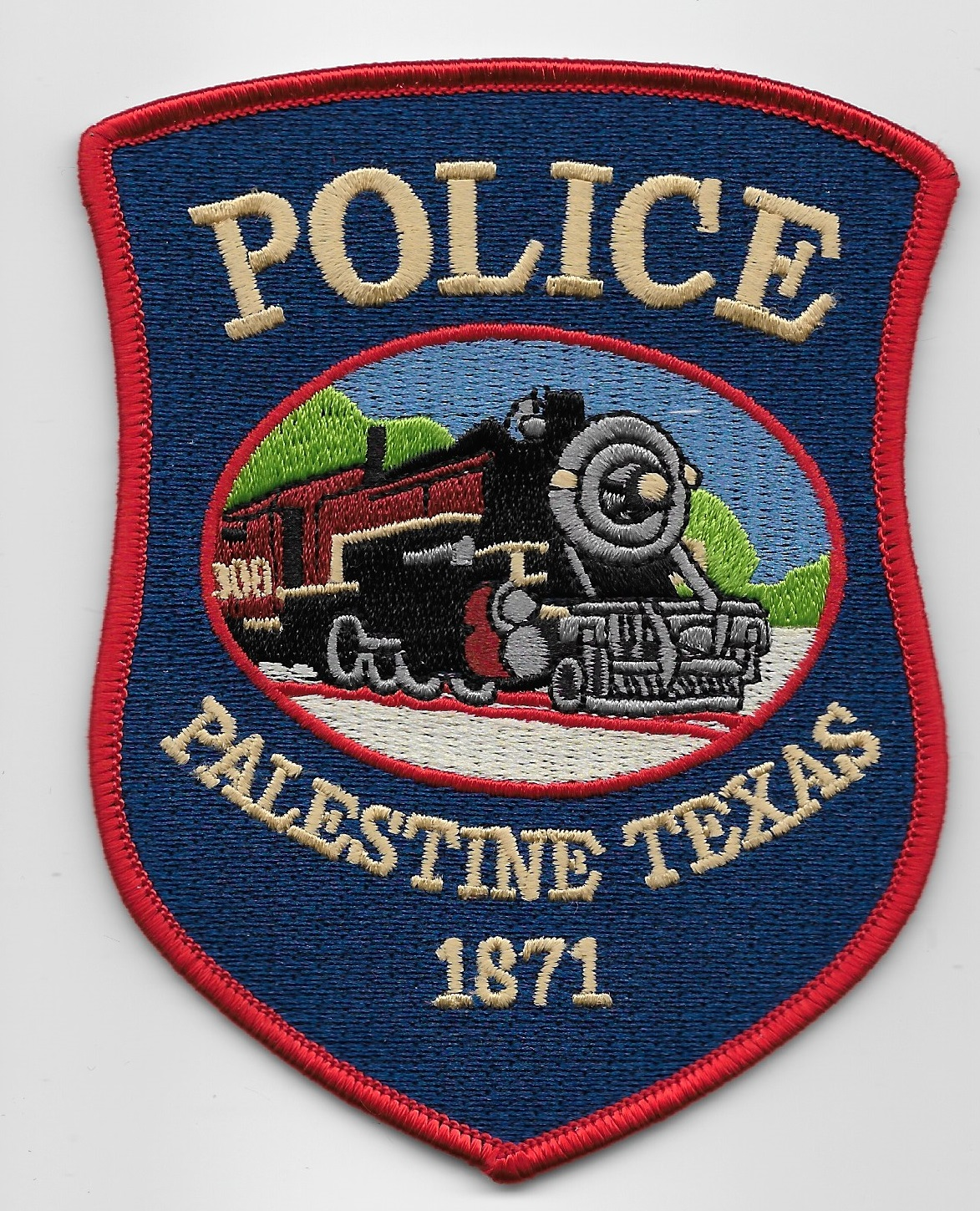 Palestine Police State Texas TX Train patch