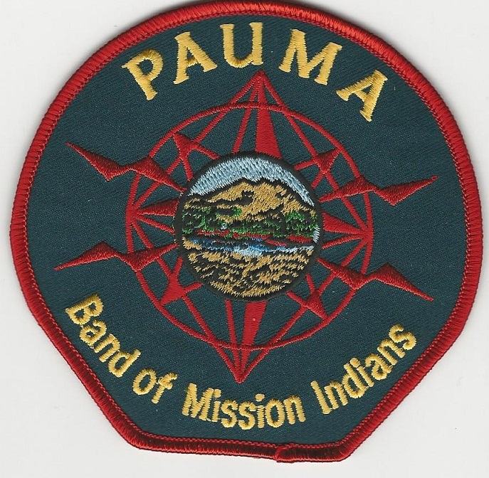 Pauma Tribal Band Seal patch CA