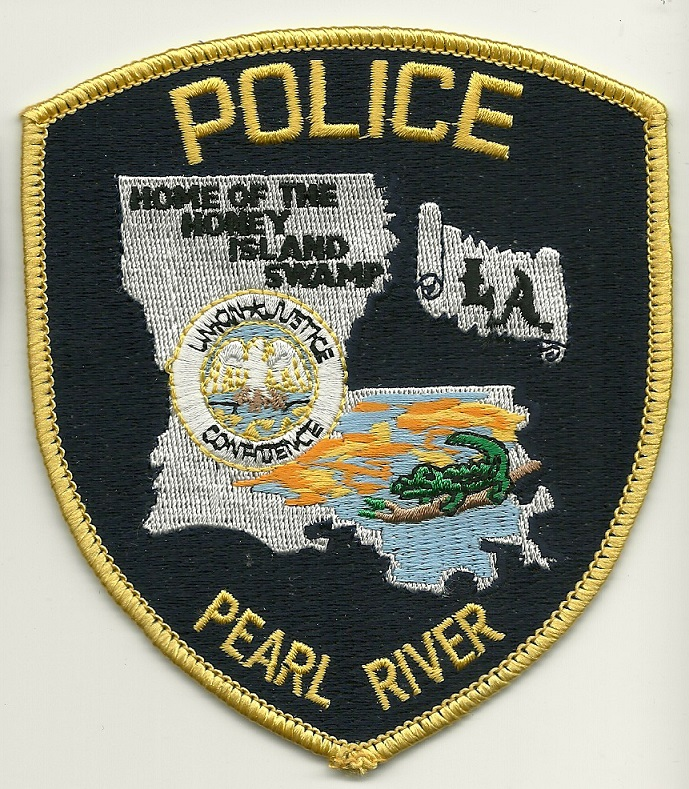 Pearl River Police State Louisiana LA Dark Blue patch