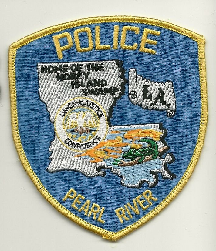 Pearl River Police State Louisiana LA light Blue patch