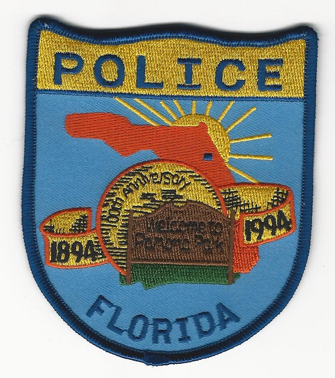 Pomona Park POlice 100th Anniversary Patch Florida FL