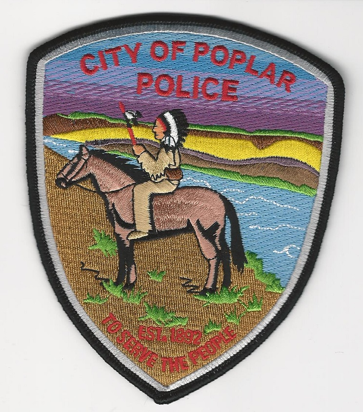 Poplar Police State Montana Indian Rider!