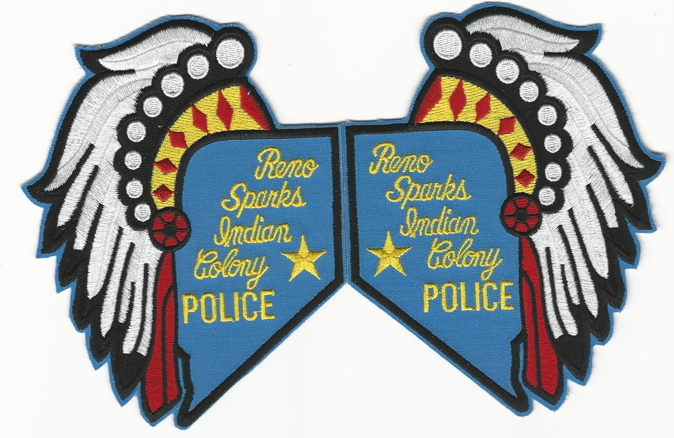 Reno Sparks Tribal Police NV State Shape Mirrored