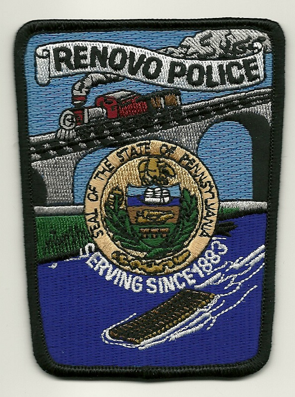 Renovo POlice State Pennsylvania PA Train & Bridge patch