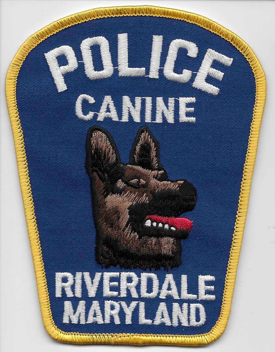 Riverdale Police k9 MD