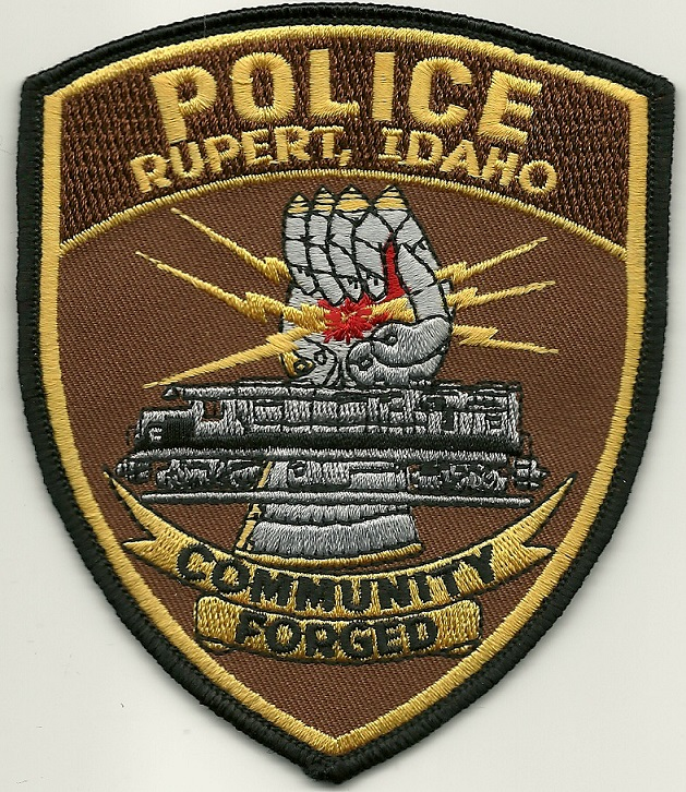 Rupert POlice State Idaho ID Train patch