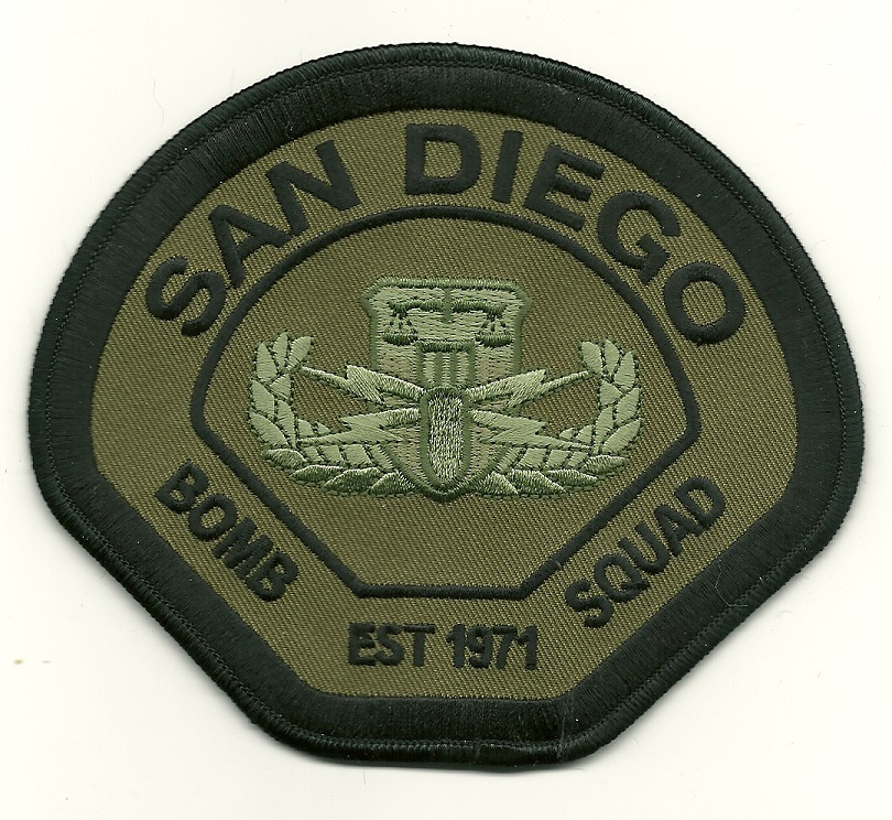 San Diego Police Bomb Squad EOD patch California CA