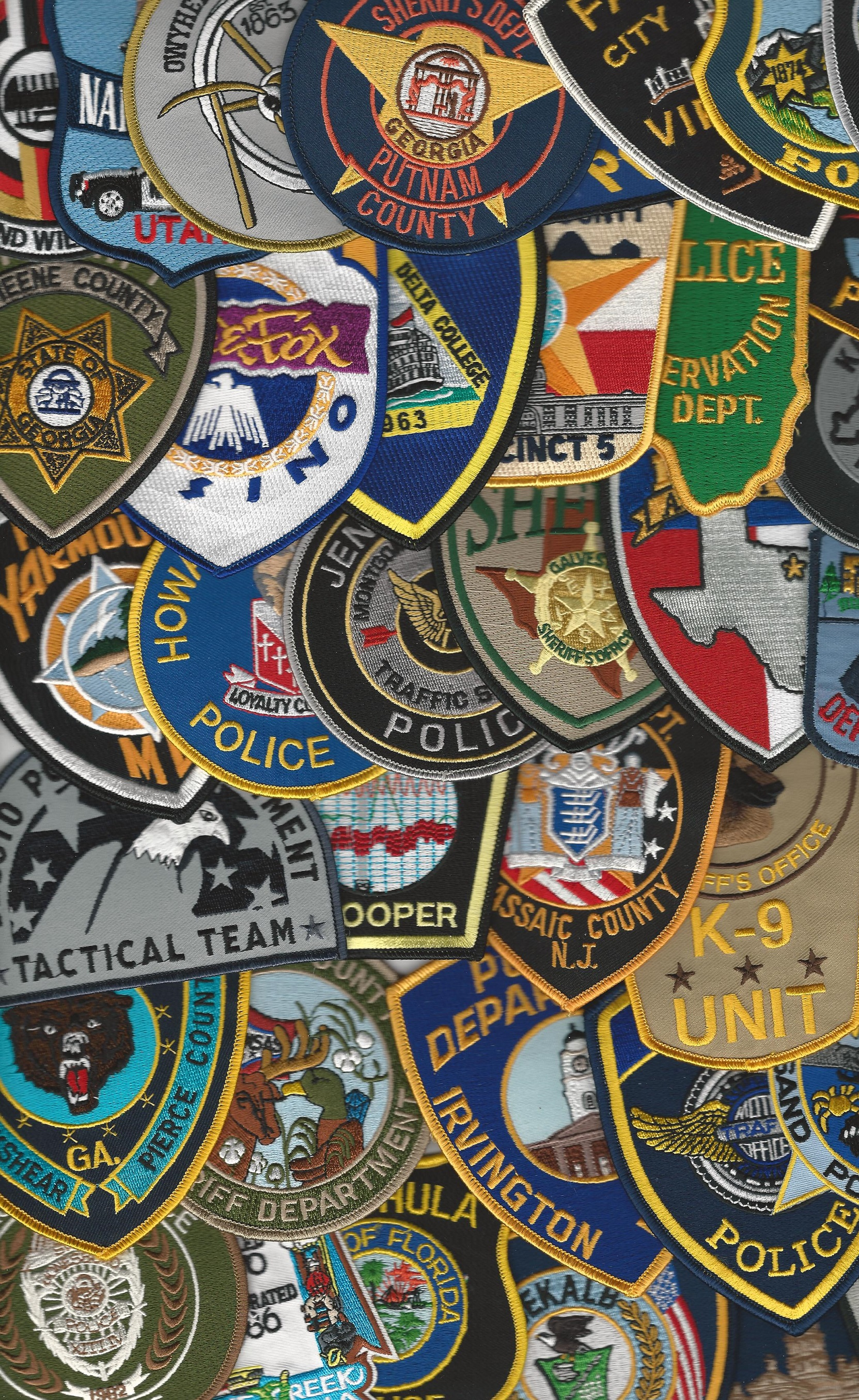 Set 100 NEW Assorted US Police Sheriff patches