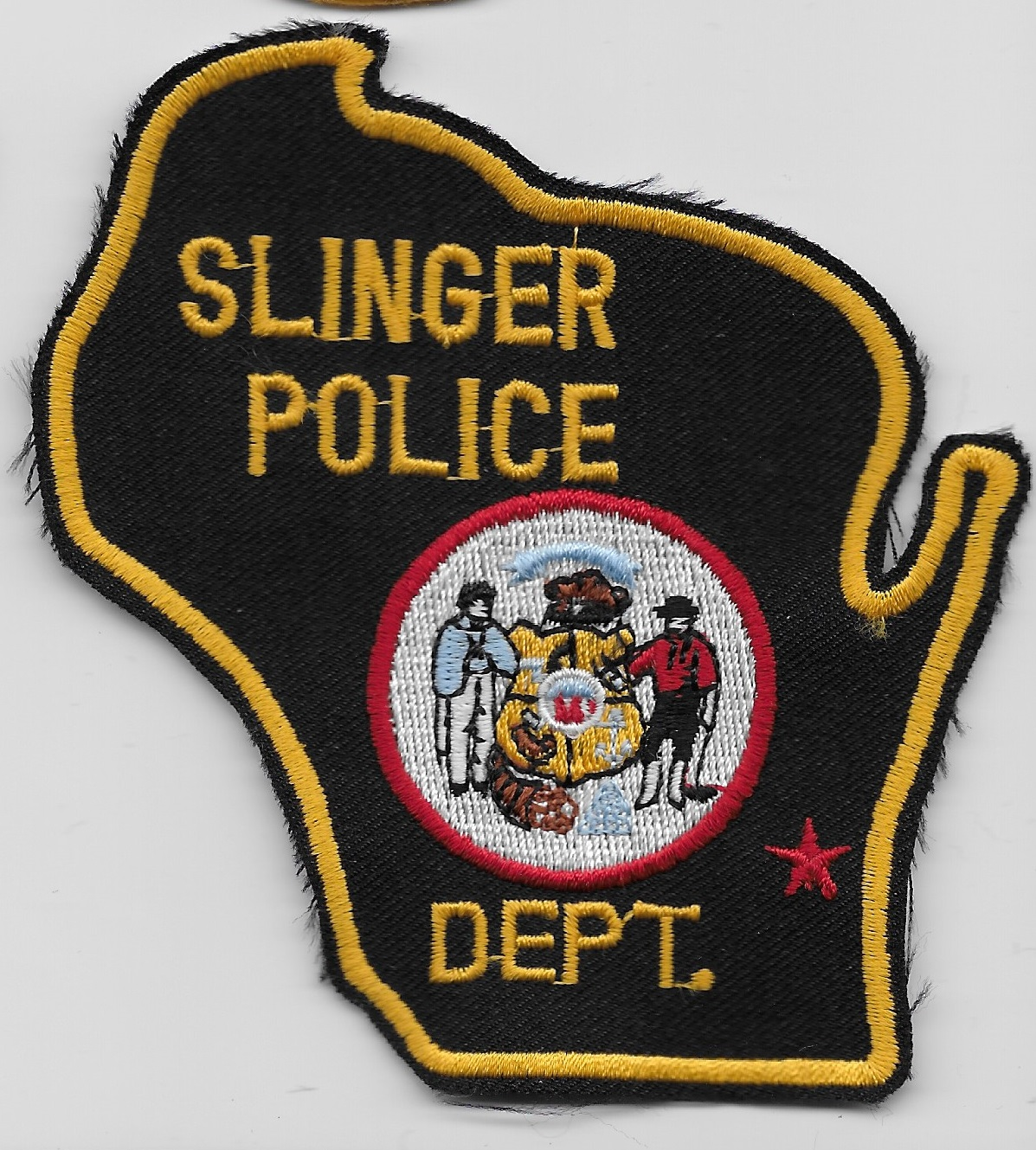 Slinger Police WI State Shaped